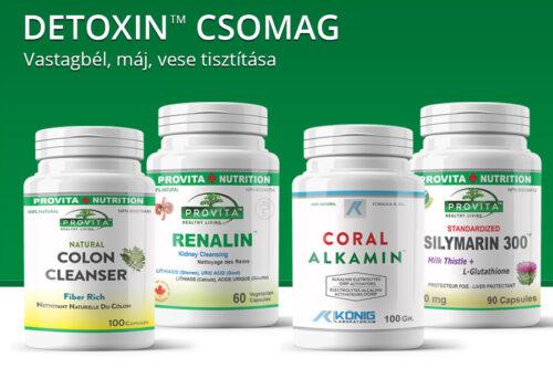 Detoxin 30 napos csomag - vastagbél, máj, vese tisztítása