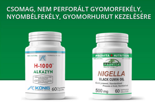 Csomag, nem perforált gyomorfekély, nyombélfekély, gyomorhurut kezelésére
