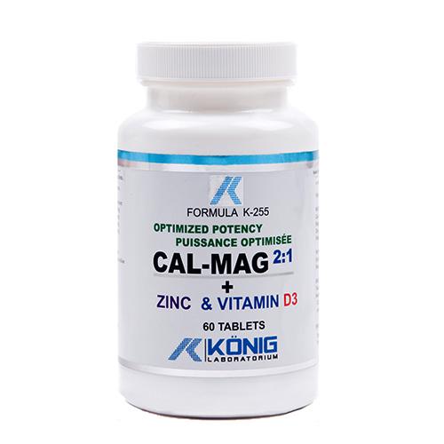 Cal-Mag 2:1 optimális hatékonyságú kálcium, magnézium, cink és D vitamin