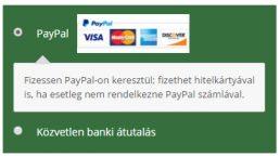 Fizessen PayPal-on keresztül